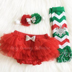 MADE TO ORDER GIRL CHRISTMAS OUTFIT 3 PIECE SET